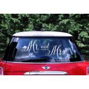 """Svadobné nálepky """"MR&MRS"""""""