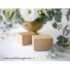 Krabičky na darčeky NATURAL (10 ks)