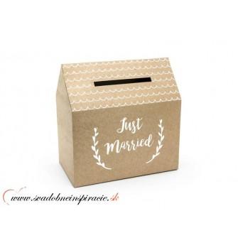 Krabička na telegramy JUST MARRIED