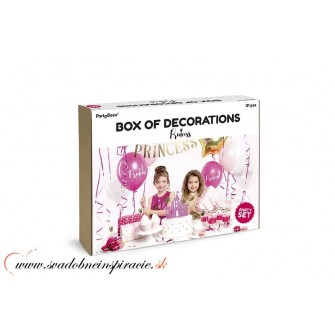 Set party dekorácií - PRINCEZNÁ (31 ks)
