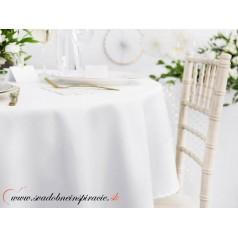 OBRUS biely na okrúhly stôl