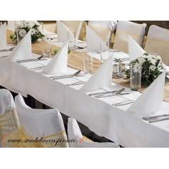 OBRUS biely na rovný stôl