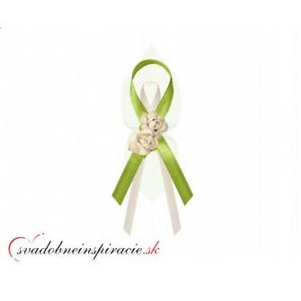 """Svadobné pierka """"Ružičky"""" - zelené"""