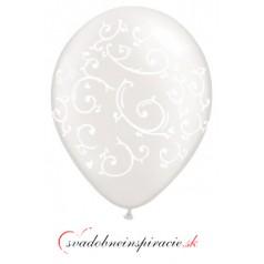"""Balóny """"ORNAMENT"""" - Priesvitné (10 ks)"""