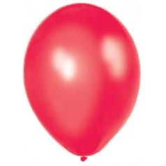 Balóny perleťové - ČERVENÉ (10 ks)