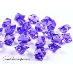 Dekoračné kamienky - DIAMANTÍKY (fialové), 50 ks