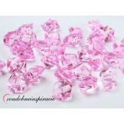 Dekoračné kamienky - DIAMANTÍKY (ružové), 50 ks