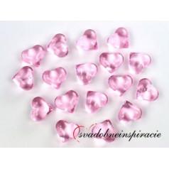 Dekoračné kamienky - SRDIEČKA (ružové), 30 ks