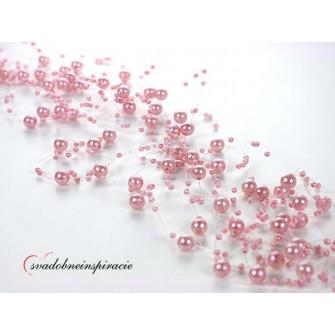 Perlová girlanda - RUŽOVÁ (5 ks)