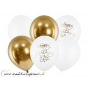 """Balóny """"HAPPY BIRTHDAY"""" (6 ks)"""