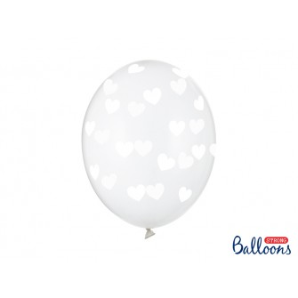 Balóny - SRDIEČKA priesvitné (6 ks)