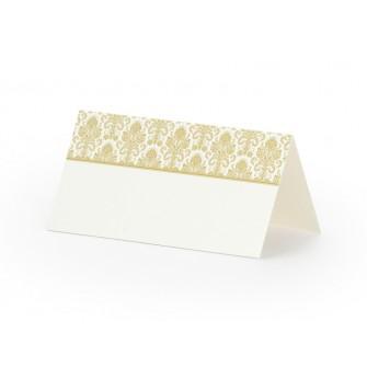 Menovky na stôl - Zlatý ORNAMENT (25 ks)