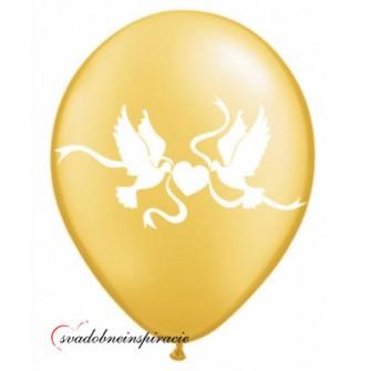 "Balóny ""HOLÚBKY"" - Zlaté (10 ks)"