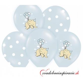Balóny SLONÍKY - modré (6 ks)