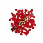 Vystreľovacie confetti - Lupienky ruží (bordové) 40 cm