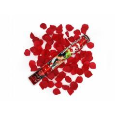 Vystreľovacie confetti - Lupienky ruží (biele) 60 cm