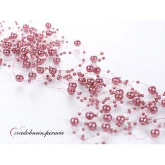 Perlová girlanda - FUCHSIA (1,3 m, 5 kusov v balení)
