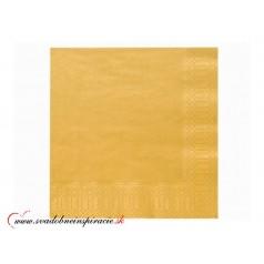 Servítky 3-vrstvové - zlaté (20 ks)
