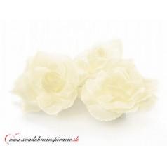 Dekoračné kvietky prilepovacie - RUŽE Ružové (24 ks)