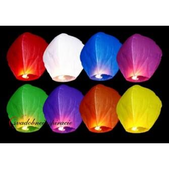 Lietajúce lampióny šťastia - MIX FARIEB (10 ks)