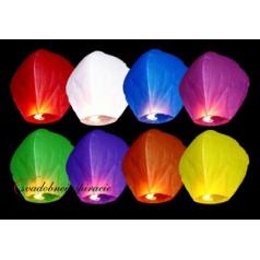 Lietajúce lampióny šťastia - BIELE SRDCE (1 ks)