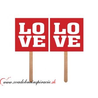 """Kartičky na fotenie """"LOVE"""" (2 ks)"""